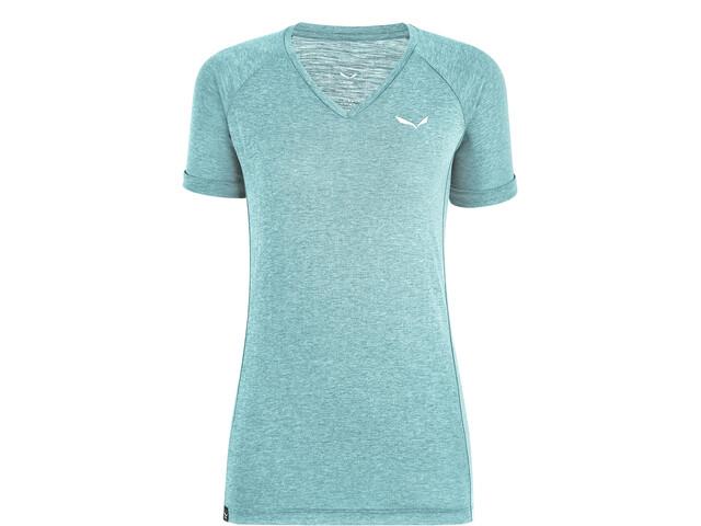 SALEWA Puez Mel Dry V-hals T-shirt Dames, blauw